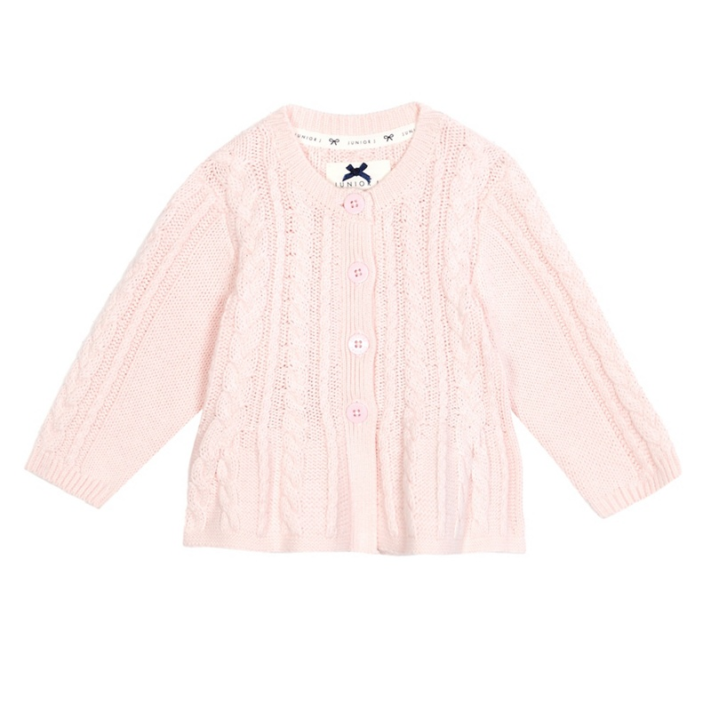J by Jasper Conran Baby Girls Pink Cable Knit Cardigan,
