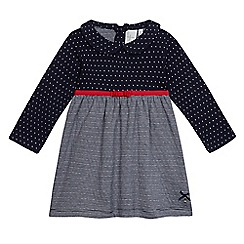 J by Jasper Conran - Baby girls  navy striped print dress