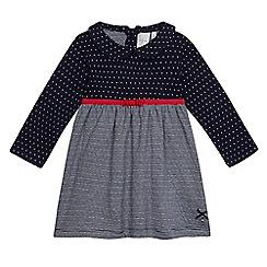 J by Jasper Conran - Baby girls  navy striped print dress