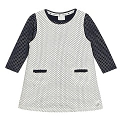 J by Jasper Conran - Baby girls' white and black polka dot dress and top set