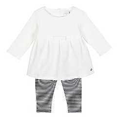 J by Jasper Conran - Baby girls' cream tunic and leggings set