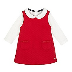 J by Jasper Conran - Girls' red quilted pinafore and top set