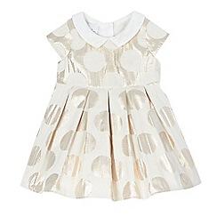 J by Jasper Conran - Baby girls' gold spotted print dress