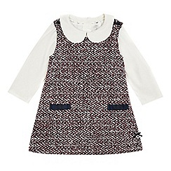 J by Jasper Conran - Baby girls' multi-coloured textured pinafore and top set with wool