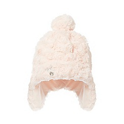 J by Jasper Conran - Baby girls' pink faux fur trapper hat