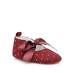 J by Jasper Conran - Baby girls' red polka dot bow shoes