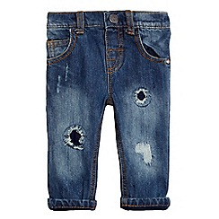 Mantaray - Baby boys' blue distressed jeans