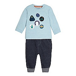 Mantaray - Boys' blue t-shirt and joggers set