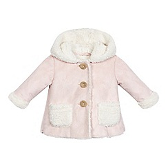 Mantaray - Baby girls' light pink shearling coat