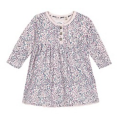 Mantaray - Baby girls' pink ditsy print dress
