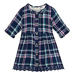 Mantaray - Baby girls' blue checked woven print dress