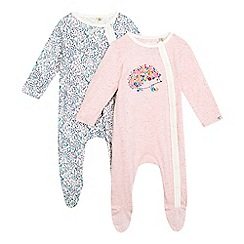 Mantaray - Pack of two baby girls' assorted printed sleepsuits