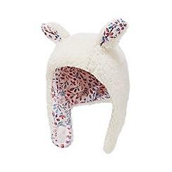 Mantaray - Babies' cream borg trapper hat