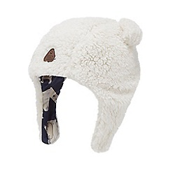 Mantaray - Babies' cream borg trapper hat