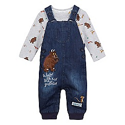 The Gruffalo - Baby boys' blue 'Gruffalo' dungarees and bodysuit