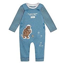 The Gruffalo - Baby boys' blue 'Gruffalo' print dungarees
