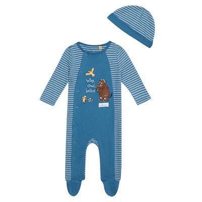 The Gruffalo Baby boys blue Gruffalo sleepsuit and