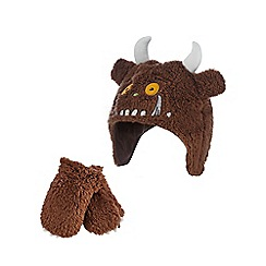 The Gruffalo - Children's brown 'Gruffalo' fleece hat and mittens