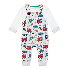 bluezoo - Baby boys' multi-coloured vehicle print set