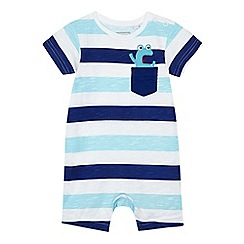 bluezoo - Baby boys' blue striped print romper suit