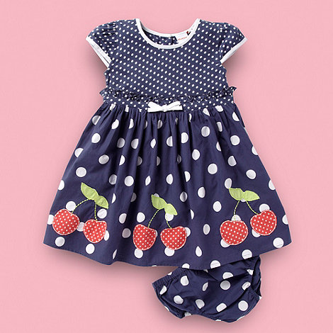 bluezoo - Babies blue cherry spotted dress