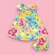 Babies yellow floral dress