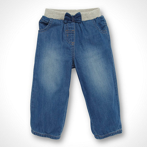 bluezoo - Babies blue ribbed waistband jeans