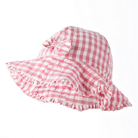 bluezoo - Babies pink gingham checked hat