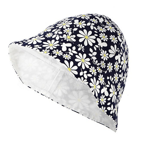 bluezoo - Babies navy daisy flower sun hat