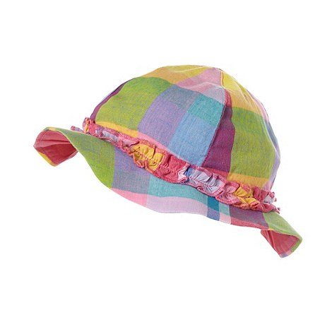 bluezoo - Girl+s multi opposing checked sun hat