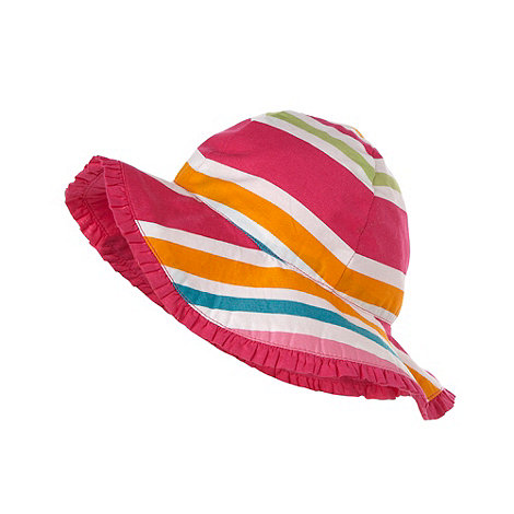 bluezoo - Girl+s multi opposing striped sun hat