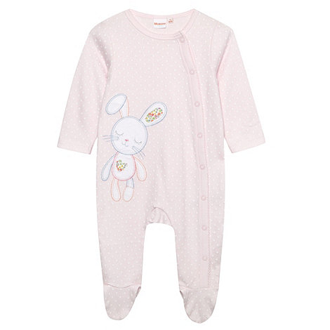 bluezoo - Babies pale pink spotted bunny baby grow