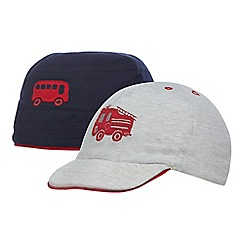 bluezoo - Baby boys' grey fire engine hat