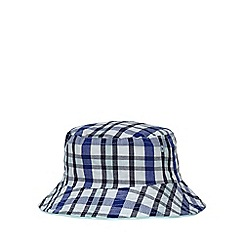 bluezoo - Baby boys' blue check fisherman hat