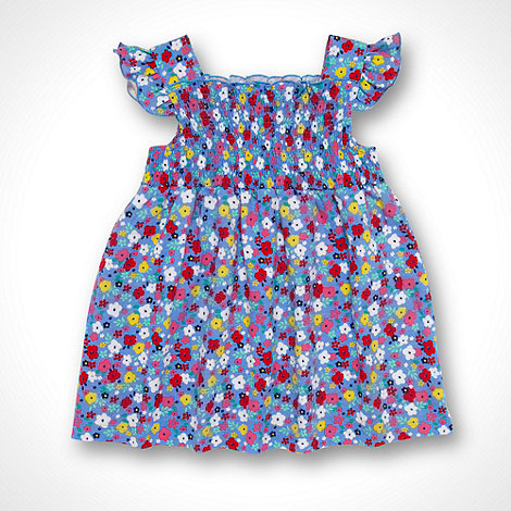 bluezoo - Babies blue shirred floral dress