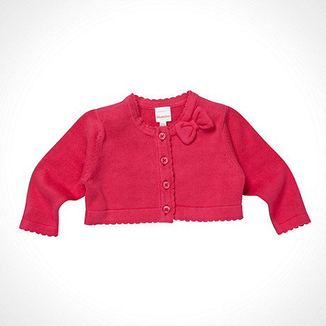 bluezoo - Babies pink scalloped trim cardigan