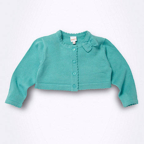 bluezoo - Babies light turquoise cropped cardigan