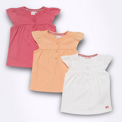 bluezoo - Pack of three Babies button t-shirts