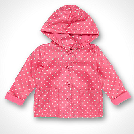 bluezoo - Babies bright pink spotted lightweight coat