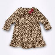 Babies natural animal patterned dress