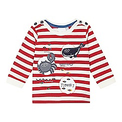 J by Jasper Conran - Babys' red nautical theme striped shirt