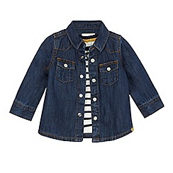 J by Jasper Conran - Baby boys' long sleeve stripe top and denim shirt set