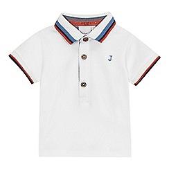 J by Jasper Conran - Baby boys' white polo shirt