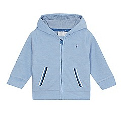 J by Jasper Conran - Baby boys' blue pique zip through hoodie