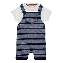J by Jasper Conran - Baby boys' blue dungaree and t-shirt set