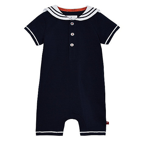 J by Jasper Conran - Baby boys+ navy sailor romper