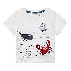 J by Jasper Conran - Baby boys' white whale print t-shirt