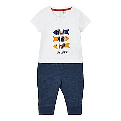 J by Jasper Conran - Baby boys' blue tee and joggers set