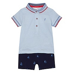 J by Jasper Conran - Baby boys' light blue polo top and shorts set