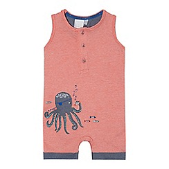 J by Jasper Conran - Baby boys' red octopus applique romper